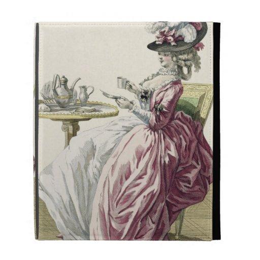"""Mujer elegante en un vestido """"un l'Anglaise"""" C de"""