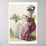 """Mujer elegante en un vestido """"un l'Anglaise"""" C de  Posters"""