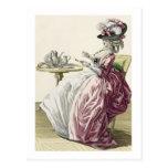 """Mujer elegante en un vestido """"un l'Anglaise"""" C de  Postales"""