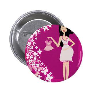mujer embarazada de Latina Pin Redondo 5 Cm