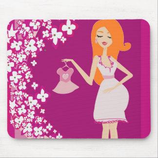 mujer embarazada del redhead mouse pad