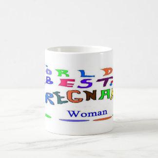 Mujer embarazada taza de café