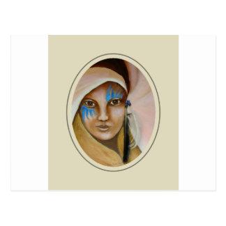 Mujer emergente 3 postal