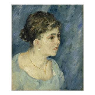 Mujer en azul de Vincent van Gogh Cojinete