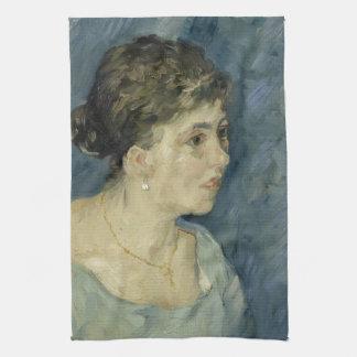 Mujer en azul de Vincent van Gogh Toallas De Mano