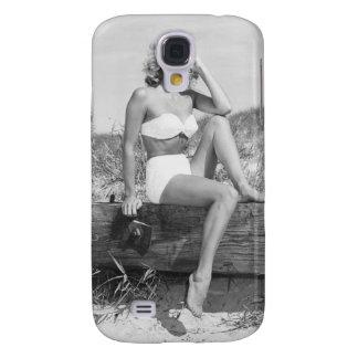 Mujer en bikini funda para galaxy s4