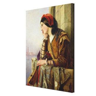 Mujer en el amor, 1856 lienzo envuelto para galerias
