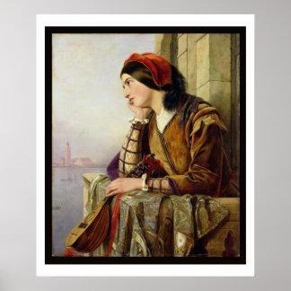 Mujer en el amor, 1856 poster