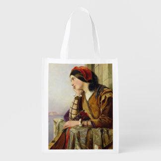 Mujer en el amor 1856 bolsa reutilizable