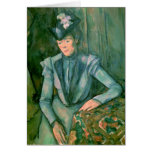 Mujer en el azul 1900-02 tarjeta de felicitación