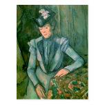 Mujer en el azul 1900-02 tarjeta postal