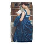 Mujer en el azul, leyendo un libro motorola droid RAZR carcasa