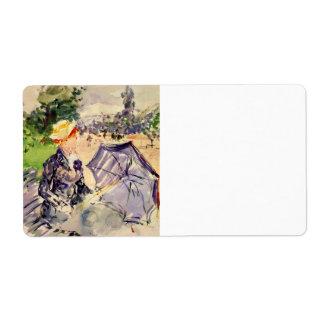 Mujer en el Bois de Boulogne de Berthe Morisot Etiquetas De Envío