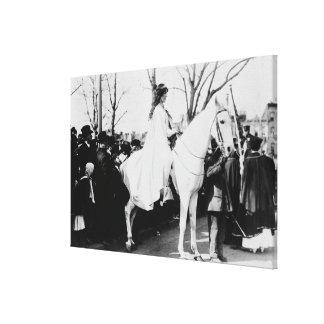 Mujer en el desfile Photograp del sufragio de la m Lona Estirada Galerías