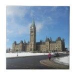 Mujer en el parlamento canadiense en Ottawa Azulejos Ceramicos