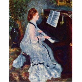 Mujer en el piano de Pierre-Auguste Renoir Esculturas Fotográficas