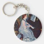 Mujer en el piano de Pierre-Auguste Renoir Llaveros Personalizados