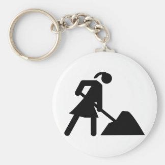mujer en el trabajo llavero