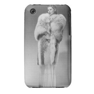 Mujer en el vestido de noche 2 iPhone 3 Case-Mate protector