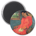 Mujer en el vestido rojo - Paul Gauguin Iman