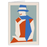 Mujer en gorra azul