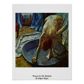 Mujer en la bañera de Edgar Degas Póster