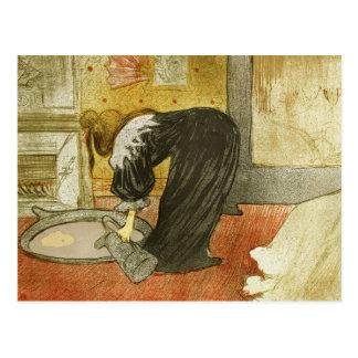Mujer en la tina de Enrique de Toulouse-Lautrec Tarjeta Postal