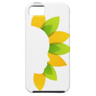 Mujer en las hojas del verde y del amarillo funda para iPhone SE/5/5s