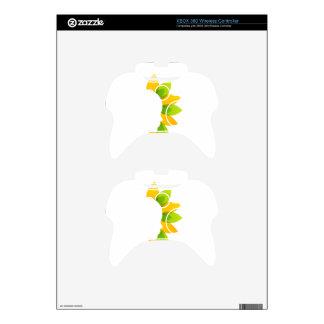 Mujer en las hojas del verde y del amarillo mando xbox 360 skins