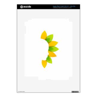 Mujer en las hojas del verde y del amarillo pegatina skin para iPad 3