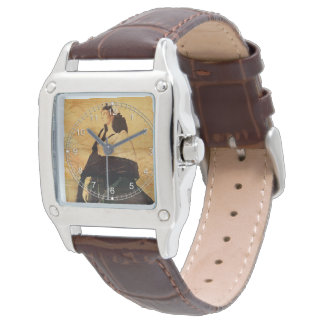 Mujer en negro relojes