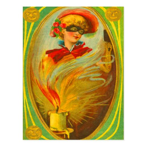 Mujer en traje postales