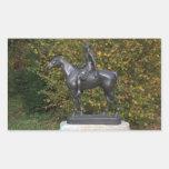 Mujer en un caballo, por Louis Tuaillon Rectangular Pegatinas