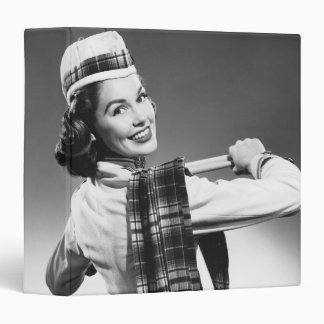 "Mujer en un casquillo carpeta 1 1/2"""
