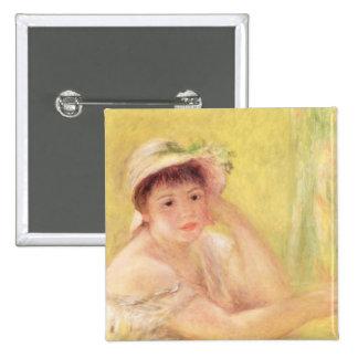 Mujer en un gorra de paja, 1879 pins