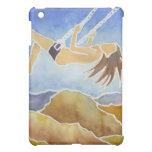 Mujer en un oscilación sobre las colinas