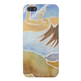 Mujer en un oscilación sobre las colinas iPhone 5 carcasas