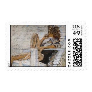 Mujer en un sello de la silla
