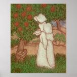 Mujer en un vestido blanco, 1896 poster