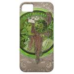 Mujer en verde - LAUREL iPhone 5 Case-Mate Cárcasas