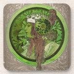 Mujer en verde - LAUREL Posavasos De Bebida