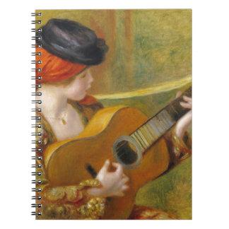 Mujer española joven con una guitarra, 1898 libreta