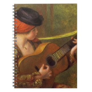 Mujer española joven con una guitarra de Pedro Libreta