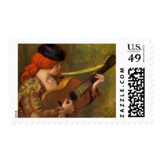 Mujer española joven por Renoir arte del Envio
