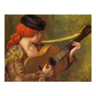 Mujer española joven por Renoir arte del Invitaciones Personales