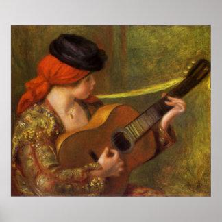 Mujer española joven por Renoir, arte del Impresiones