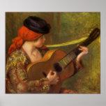 Mujer española joven por Renoir, arte del Póster