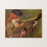 Mujer española joven por Renoir, arte del Rompecabezas