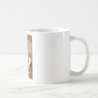 Mujer Fadeaway de Coles Phillips con el collie Tazas De Café