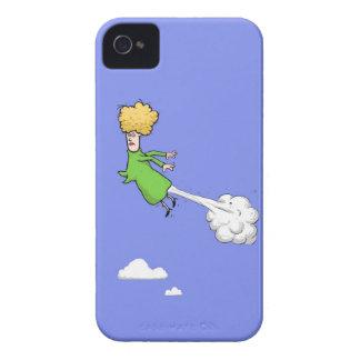 Mujer Farting en el caso 4s del iPhone 4 del cielo Case-Mate iPhone 4 Fundas